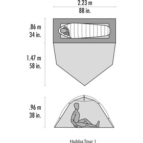 MSR Hubba Tour 1 CDL Tente, gray